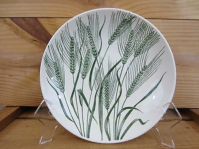 "VTG 50s 8"" Dinner Salad Bowl Wheat Americana Green Homer Laughlin Made in USA"