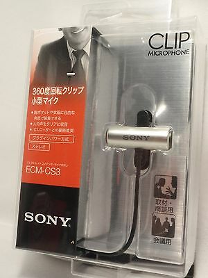 Sony ECM-CS3 Condenser Microphone Clip Omni-Directional from Japan for PC, etc.