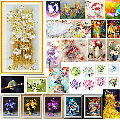 5D DIY Diamond Painting Embroidery Flower Animals Cross Crafts Stitch Kit Decor