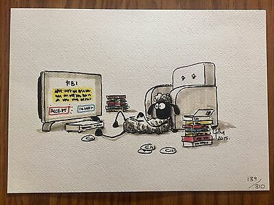Shaun the Sheep Original Sketch Limited 2015 #139 of 310