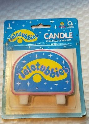 NEW in Pack Teletubbies Logo Candle Vintage 1998 Birthday Party Supplies