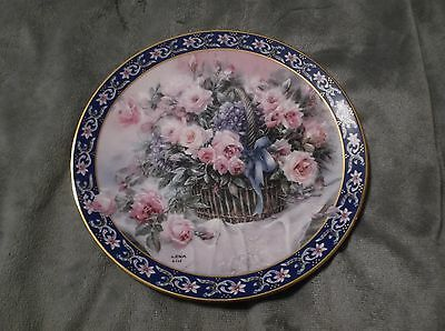 """Lena Liu's Basket Bouquets """"Roses"""" Collector Plate Bradford Exchange W.S. George"""