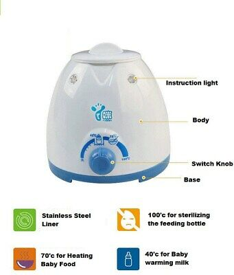 Baby Bottle Milk Warmer Heating Up baby Food And Sterilizing the Feeding Bottle