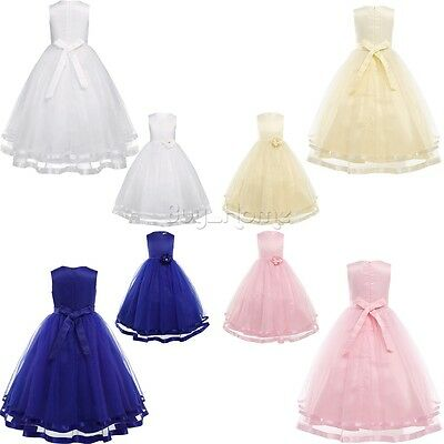 Flower Girls Princess Dresses Birthday Wedding Bridesmaid Formal Pageant Dress