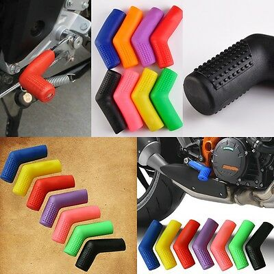 1Pc Universal Motorcycle Rubber Shifter Sock Boot Shoe Protector Cover Dual New