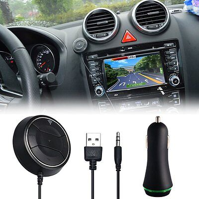 Bluetooth NFC Wireless 4.0 Music Receiver 3.5mm Adapter Handsfree Car Speaker