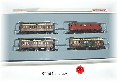 Märklin 87041 Z Gauge passenger car Set of the KPEV 4-piece # in #