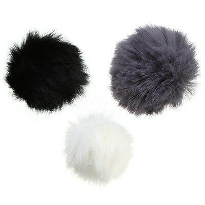 Fur Windscreen Windshield Wind Muff for Lapel Lavalier Microphone Mic 3 Colors