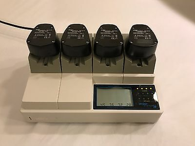 Stryker 4110-120, System 5 Battery Charger w/ 4 Batteries, Surgical, Orthopedic