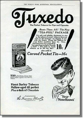 1919 Tuxedo the perfect tabacco for pipe & cigarette - your nose knows print-ad