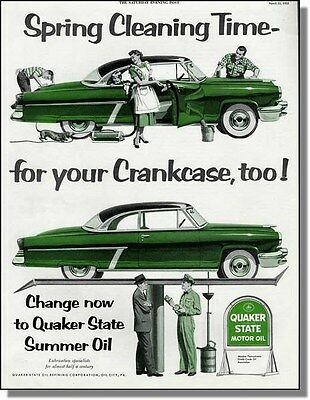 1953 Spring Car Cleaning Time - Quaker State Print-Ad