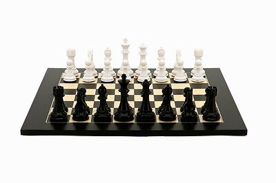 DAL ROSSI CHESS SET 50 cm with Black & White Weighted Chess Pieces