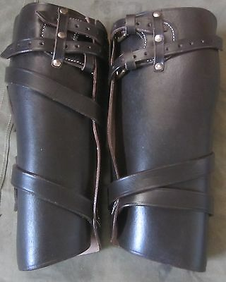 Wwi British Leather Field Leggings- Size Large
