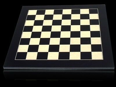 DAL ROSSI CHESS SET 40 cm - Silver & Titanium Black Chessmen - Imperfections