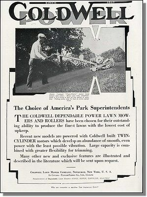 1931 Coldwell Power Lawn Mower Photo-Ad