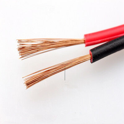 Home Loud Speaker Cable RVB2x0.3/0.5/0.75/1/1.5mm² PVC Wire 2 Core Red Black ES