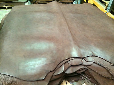 DARK CHOC  Italian Leather - soft textured single butts - veg-tanned