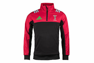 adidas Mens Harlequins 2017/18 Players Fleece Rugby Jacket Long Sleeve Sports