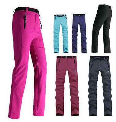6428 New Women Warm Windproof Trousers Outdoor Hiking Ski Camping Fleece Pants