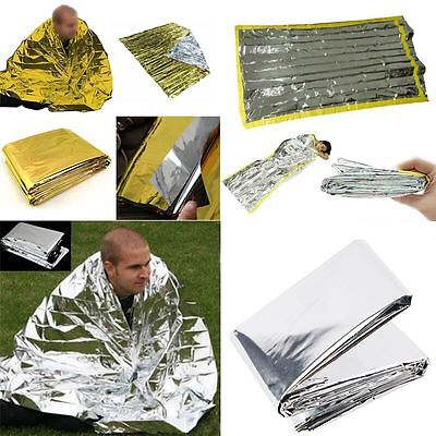 Emergency Survival Foil Thermal Camping Sleeping Bag Blanket Rescue First Aid
