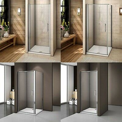 Frame Frameless Walk in Pivot Glass Door Screen Cubicle Shower Enclosure Panel T