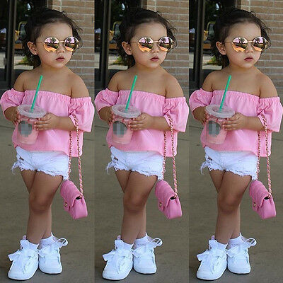 Infant Baby Kids Girl Casual Clothes Sleeveless Cotton T shirt Tops Loose Blouse