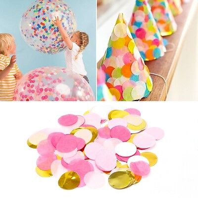 1000pcs/Pack Wedding Sprinkles Colorful Circle Paper Throwing Confetti Decor