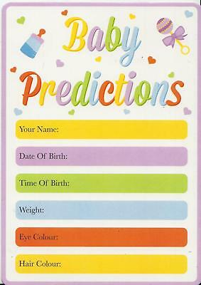Pack Of 12 Baby Prediction Cards Baby Shower Game Mum To Be Party Weight Date