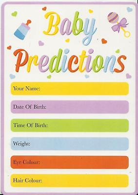Pack Of 15 Baby Prediction Cards Baby Shower Game Mum To Be Party Weight Date