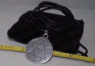 Seal of Great Prosperity King Solomon Talisman Pendant Charm Necklace