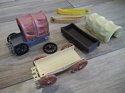 Timpo Cowboy Chuck Wagons & Indian Canoes For Spares