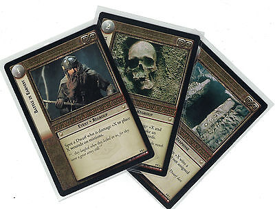 Lord of the Rings CCG Siege of Gondor: 3x Rare Cards   freie Auswahl    Lot