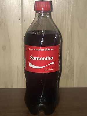 Coca Cola Share a Coke With Edition 2017: Samantha 20oz Plastic Bottle