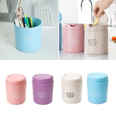 Mini Small Waste Bin Desktop Garbage Basket Table Home Trash Can