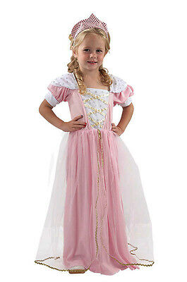 Childrens Pink Fairy Tale Princess Fancy Dress Costume Kids Girls 2-3 Yrs