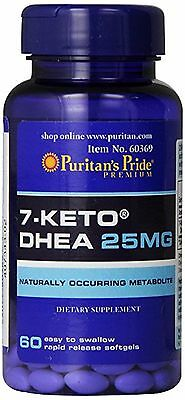 PURITANS PRIDE 7-Keto ® DHEA 25 mg - 60, Softgel/Perlas