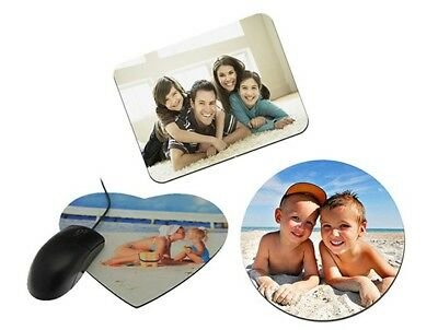 Personalised Mouse Mat Pad * Heart Round * Non Slip Photo Picture Logo Printed