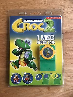 Croc 2 Official 1 Meg Memory Card For PlayStation Rare. New Sealed. Collectible