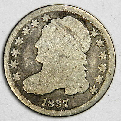 1837 Bust Dime - Bold Date Solid Good++ Priced Right!