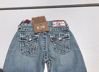 NEW True Religion Billy Super T Jeans Blue Denim Little Kids Boys  Size 4 NWT