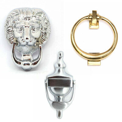 """RING or 6"""" URN Front Door Knocker Available in 3 Finishes Bolt Through"""
