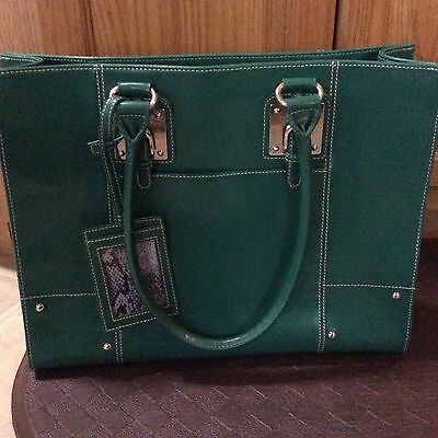 Wilsons Leather Women's Briefcase Attache Laptop Tote Bag, Laptop, Green XL