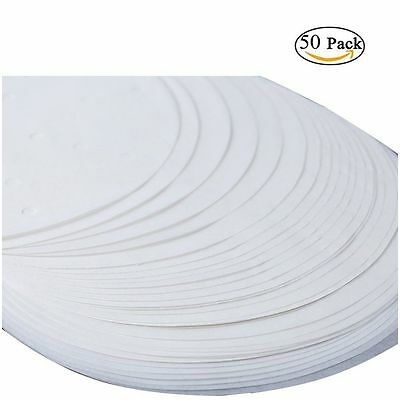 "50 X 20cm (8"") Non Stick Round Greaseproof Parchment Paper Cake Tin Liners"