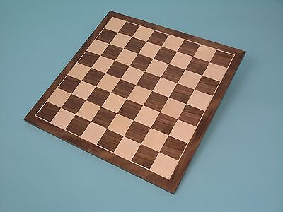 Natural Wood - Walnut & Sycamore Veneer Chess Board - Ref: 00421