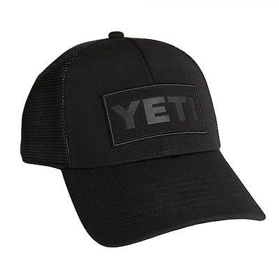 NWT - YETI 'BLACK on BLACK PATCH' TRUCKER HAT / CAP - One Size