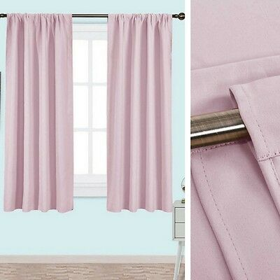 Pink Nursery Curtains 2 Panels Blackout Thermal Insulated Draperies Girls Room