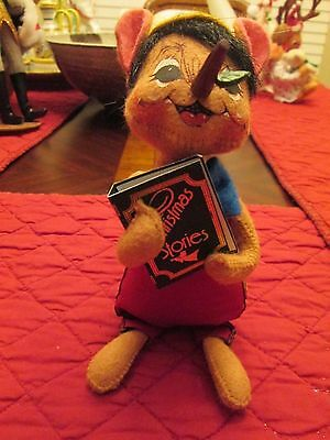 """Annalee story book pinocchio 2005 6""""tall"""