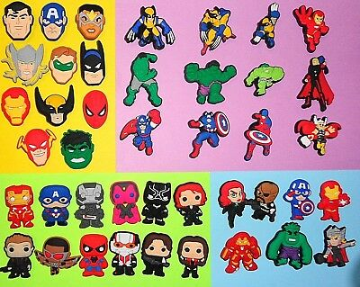 Avengers Symbols / Avengers & Friends Character Shoe Charms put in your Crocs