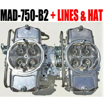 Demon Mad-750-B2 750 Cfm Gas Blower Supercharger Carbs With Fuel Lines All New