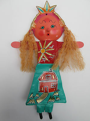 COCONUT MASK DOLL wall decoration mexican handmade colorful folk art